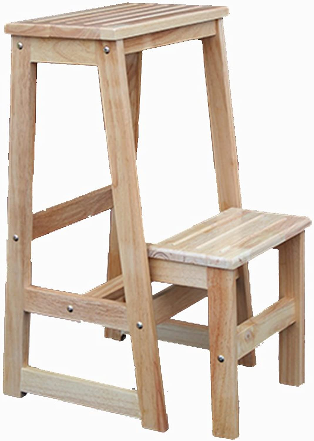 Solid Wood Step Stool, Home Thickening Single Work Solid Wood Step Stool Leisure Bar High Table Stool (color   A)