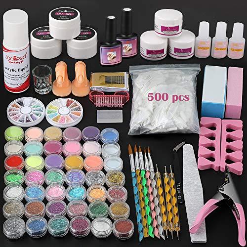 Nail Kit for Acrylic Nail Art, 42 Nail Powder Kit Nail Set Professional for...