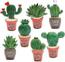 EQLEF Imanes de Nevera de Resina, Pegatinas magnéticas Decorativas Cactus suculentos Imán de Planta de Nevera teléfono Creativo (7)