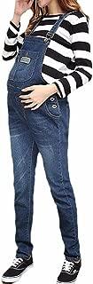 Klorim Soft Adjustable Denim Bib Maternity Overall XS-XXL