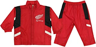 Mighty Mac Detroit Red Wings NHL Baby Boys Infant Windsuit Jacket & Pants Set, Red
