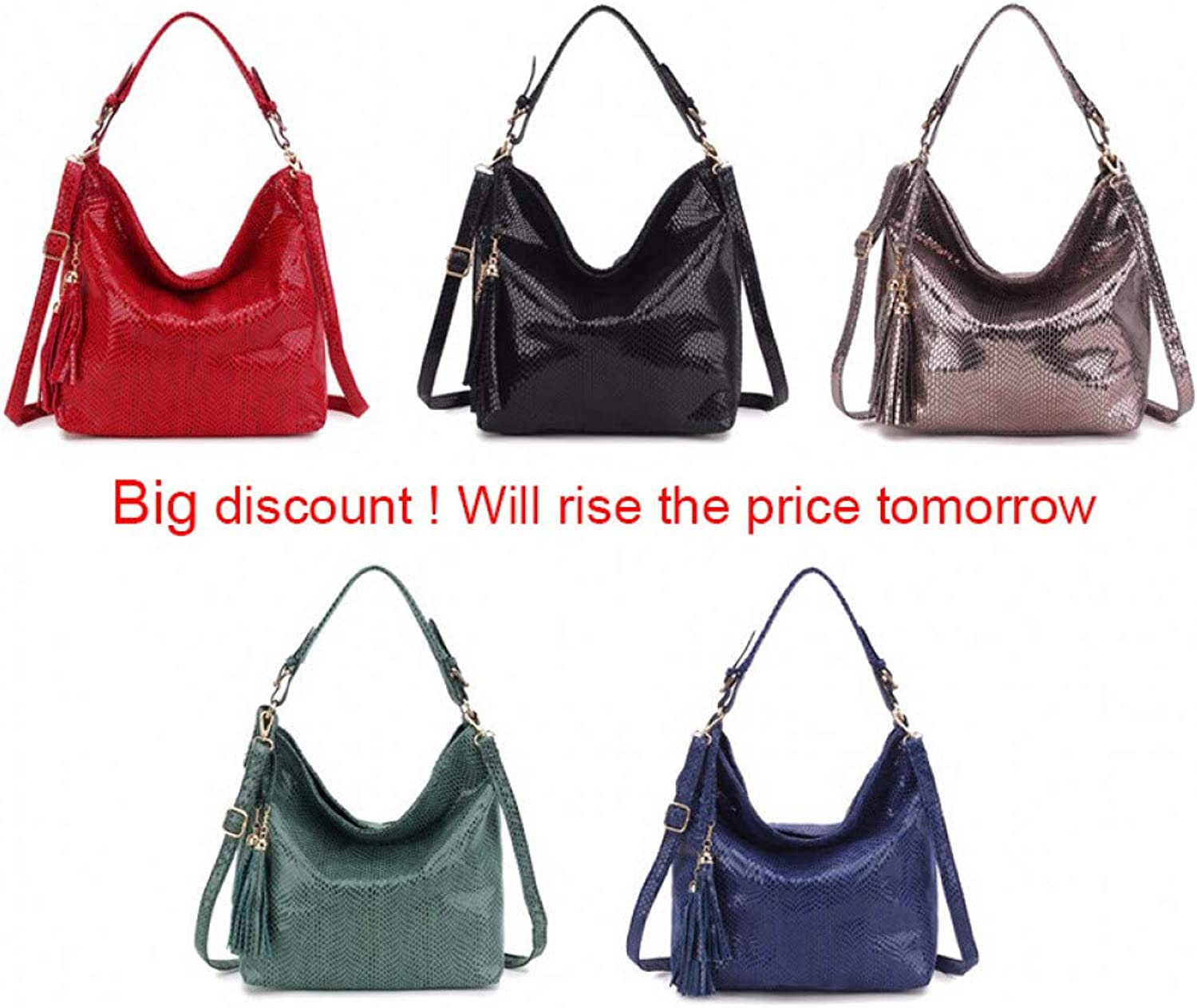 JQSM Fashion Women Leather Handbags Shoulder Bag Ladies -Handle Bags Female Purses and Handbags Black Sbody Bag for Women