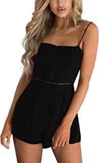 Rompers Jumpsuits for Women Long Sleeves Elastic Drawstring High Waist Casual Romper with Pockets