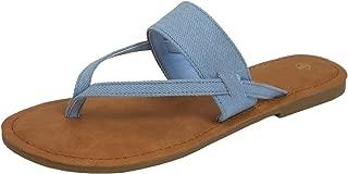 Women's Thong Slip-On Flip-Flop Strappy Flat Slide Sandal