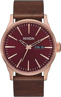 ساعة نيكسون للرجال A105 Sentry 42 مم من الفولاذ المقاوم للصدأ جلد حركة كوارتز