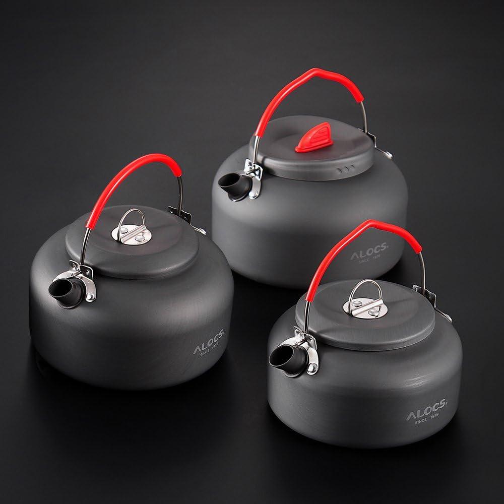 Lixada Outdoor Kettle Camping Picnic Water Teapot Coffee Pot 1.4L Aluminum Pot
