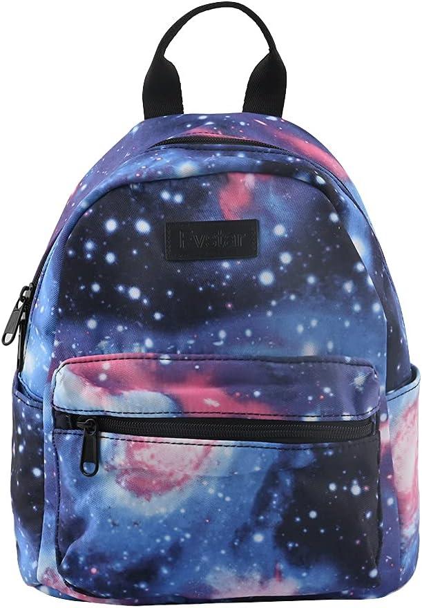 Fvstar Cute Floral Teen Girls Backpack Purse Mini Canvas Travel