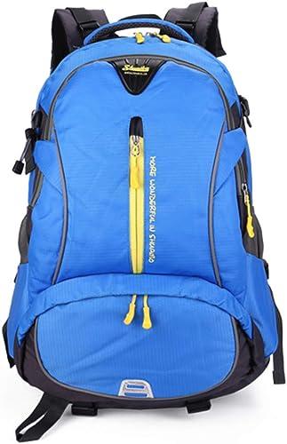 UICICI Rucks e Multifunktionale und langlebige Reise durch Gehen Klettern Wild Camping Freizeit Sport Neutral Schultern Studententasche (Farbe   Blau)