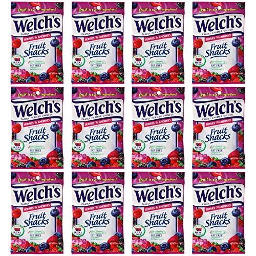Welchs Berries N Cherries Fruit Snacks, 12 - 5oz Bags