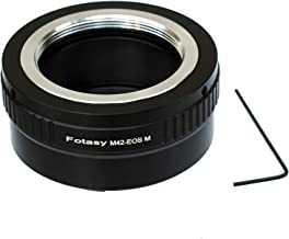 Fotasy Adjustable Brass M42 Lens to Canon EOS M Adapter, M42 to EOS M Adapter, Compatible with 42mm Screw Mount Lens & Canon EOS M Mount Mirrorless Camera M1 M2 M3 M5 M6 M6 Mark II M10 M50 M100