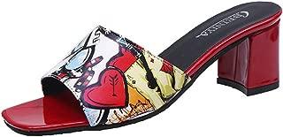 Women Mule Slippers Pointed Toe Slides Low Heels Sandals Kitten Heels Backless Dress Sandals