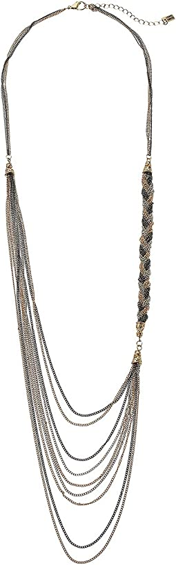 Steve Madden - Multi-Strand Braided Chain Necklace