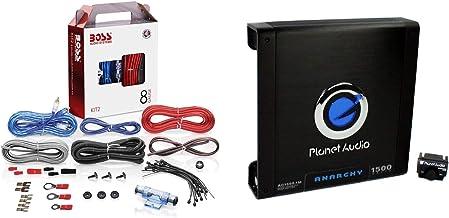 $93 » Planet Audio AC1500M 1500 Watt Monoblock Amplifier and BOSS Audio Systems KIT2 8 Gauge Car Audio Amplifier Installation Wi...