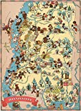 KsimYa DIY Puzzle, Mississippi Wooden Map Jigsaw Puzzle Toys for Adults Kids USA State Map Puzzle Games 1000 Piece