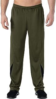 TBMPOY Men's Sweatpants with Elastic Waist Zipper Pockets Lightweight Sport Athletic Pants