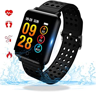 SZSCLMKJ Fitness Tracker, Smart Bracelet & Fitness Watch with Heart Rate, IP67 Waterproof & Swim Tracking, Compatible with Bluetooth 4.0 or Above M19-1