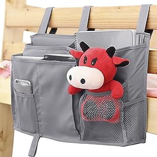 JINTN Bedside Caddy Hanging Storage Bags Organizer for Notebooks Remotes Keys Toys Headboards Bed Rails Bunk Beds Bathroom...