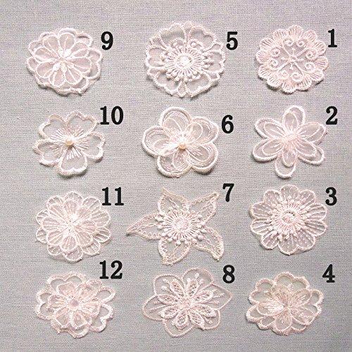 12PCS White Organza Lace Flowers Appliques Embroidered DIY Applique Sew Iron on Kids Craft Patch for Bags Jackets Jeans Clothes(12pcs-Flower lace Applique)