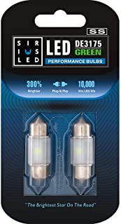 SIRIUSLED - SS DE3175 31MM LED Festoon Bulb for Car Interior, Map, Dome, Courtesy, Door, Trunk, Cargo, License Light with ...