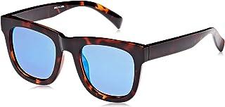 Tfl Square Sunglasses For Women - Blue Lens, 25506Tortblue, 142 mm