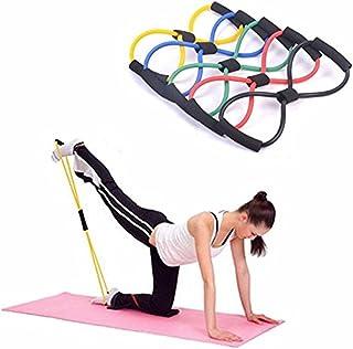 comprar comparacion Unicoco Banda de Resistencia Banda de Ejercicios Elásticos de Fitness Ejercicio Muscular Cuerda de Tubo de Yoga para Terap...