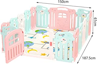 Baby Playpen Activity Center Safety Playard With Lock Door Kid s Fence Indoor Outdoor Suction Cup Base For Children Months 6 Years Old  Size 150x187 5cm