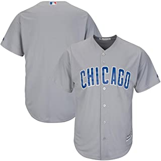 Majestic Chicago Cubs MLB Mens Cool Base Replica Gray Jersey Big & Tall Sizes