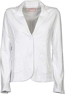 Luxury Fashion | Sun 68 Women F3020401 White Cotton Blazer | Spring-summer 20