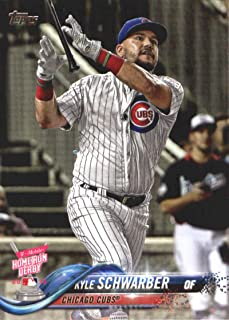 2018 Topps Update and Highlights Baseball Series #US59 Kyle Schwarber Chicago Cubs Official MLB Trading Card