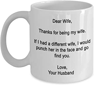 Dear Wife- Thanks for being my wife- Funny gifts for wife