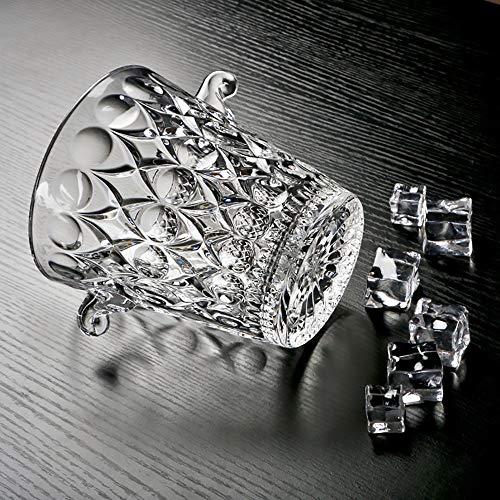 DODOBD Secchiello per Ghiaccio, Materiale in Cristallo Senza Piombo, Trasparente, con Clip per Ghiaccio Utilizzare per Birra Fredda Champagne Bevanda Vino