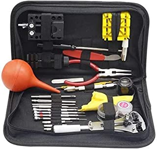 27PCS Watch Repair Tools Kit Watch Tools Watchmakers Set with Black Case Change Watches Cell & Accessories