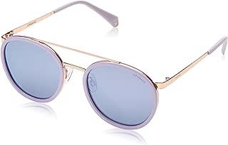 Polaroid Mirrored Round Women's Sunglasses - (PLD 6032/S 35J 53MF 53 Blue Color)