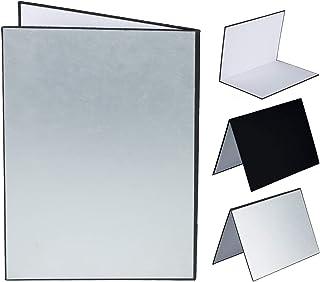 TARION レフ板 反射板 1枚3色 銀、白、黒 照明道具 A4サイズ 補光/吸光/輪郭強調用 縦式 折り畳み可
