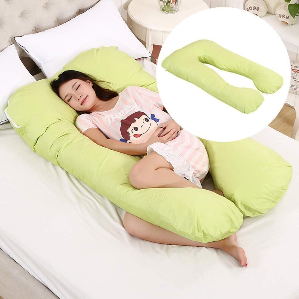 RYHON6 Oreiller multifonction pour femme enceinte en coton amovible et lavable en forme de U Coussin de sieste RYH (couleur : beige) Violet/Rose