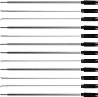 Unibene Cross Compatible Ballpoint Pen Refills 12 Pack, 1.0mm Medium Point-Black, Smooth Writing Replaceable German Ink Pen Refill