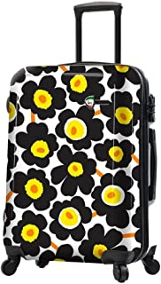 Mia Toro Italy Ekko Hardside 24 Inch Spinner Luggage-Black
