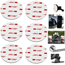 """80mm(3.15"""") Circular Double Sided Sticky Pads 6Pcs Strong Adhesive Pad for Car Mount Mounting Holder Windshield GPS Camera Lock Sucker Suction Cup Hook Dashboard Toys (White)"""