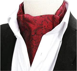 Men's Classic Present Silk Ascot Paisley Patterned Cravat Designer by Kihatwin