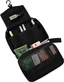 حقيبة أدوات الزينة المعلقة للسفر ومنظم أدوات التجميل للنساء والرجال, , أسود - 80502
