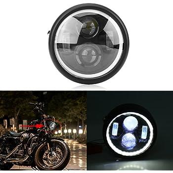 12/V 6.5/faro lampada anteriore moto LED universale luce bianco per Moto Bicicletta Motociclo Mountain Bike