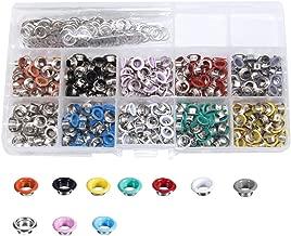 Bestgle 300 Piezas Kit de Ojetes Kit de Ojales de Metal Multicolor diámetro interior 6 mm con herramientas grommet,con Caja de Almacenamiento Kit(diez colores)