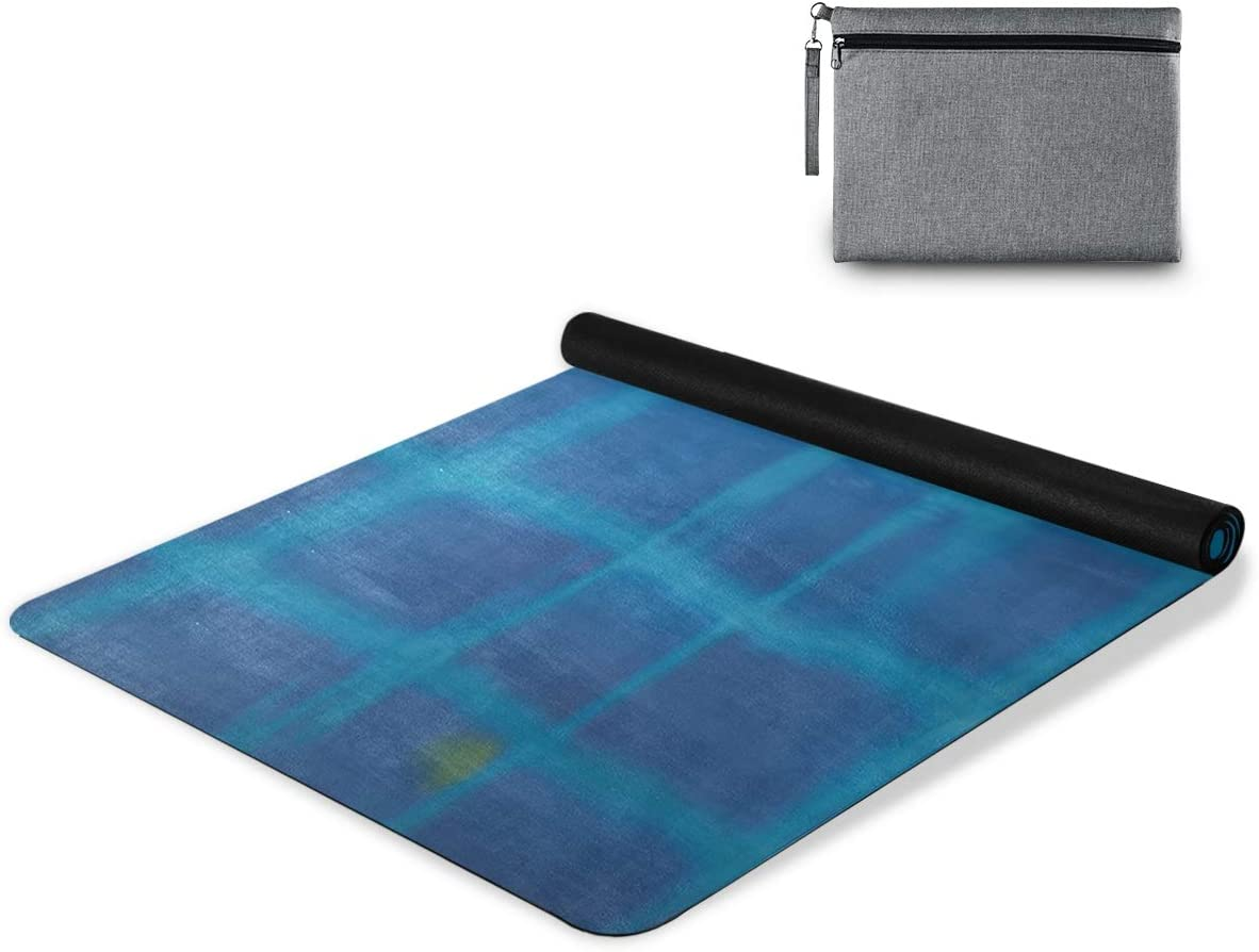 senya Non Slip Yoga Towel Plaid Microfiber Mat Ranking Bombing new work TOP19 Blue Flowers