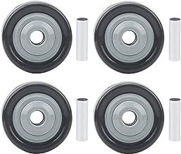 Walfront 4-delig zwenkwiel 2,5 inch mute directioneel medium wiel Slijtvast, stil en anti-kronkelend voor middelgrote beug...