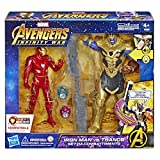 Hasbro Marvel Avengers Infinity War Iron Man vs. Thanos Hero Vision (Battle Juego Personajes, Action Figure), e0559103