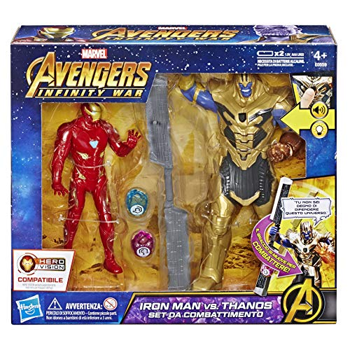 Hasbro Marvel Avengers Infinity War Iron Man vs. Thanos Hero Vision (Battle Set Personen, Action Figure), E0559103