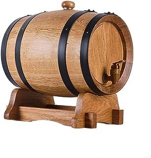 Fût de Chêne, Seau de Rangement en Chêne pur Résistant à L'usure et Durable Convient pour le Brassage du Vin et la Conserv...