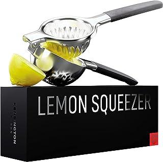 Ultimate Manual Lemon Squeezer - Pro-Grade, Stainless Steel Ergonomic Design, Non-Slip Grips - Effortless Lemon, Lime, Ora...