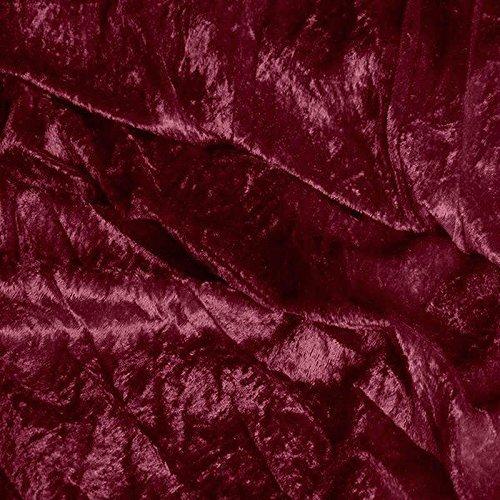 TOLKO 1m Pannesamt als Meterware Edel glänzender Stretch Samt-Stoff zum Nähen Dekorieren | 145cm breit Kleidungsstoff Dekostoff Modestoff Polyesterstoff für Vorhänge Gardinen Bühne (Bordeaux)