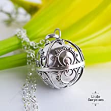 20mm Large Sunshine Harmony Ball Sterling Silver Pendant Pregnancy Necklace 36